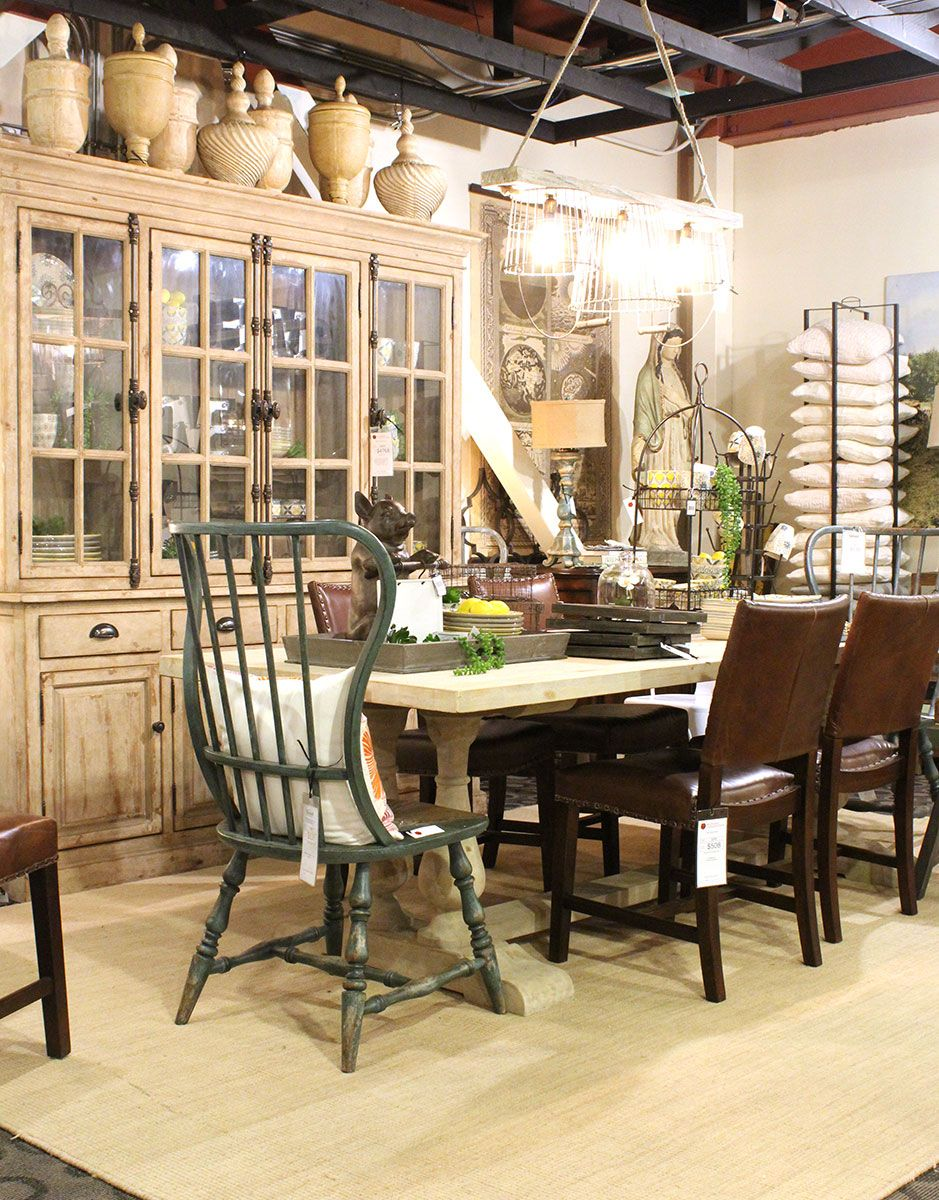 Windsor Dining Table And Matching Cabinet Find Them In The Farmhouse Section At Tin Roof 1727 E Sprague Ave Spokane WA