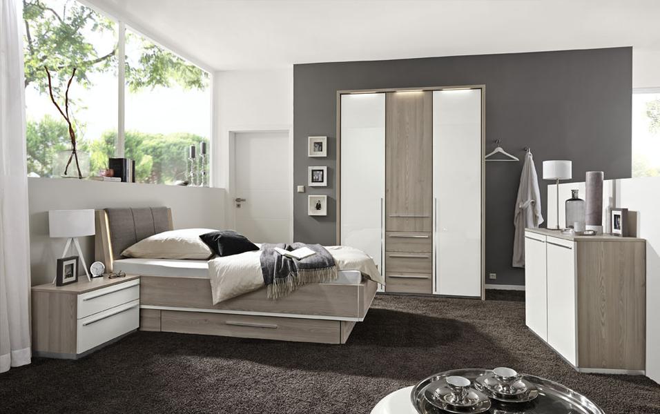 Loddenkemper Dream Schlafzimmer beige Holz grau