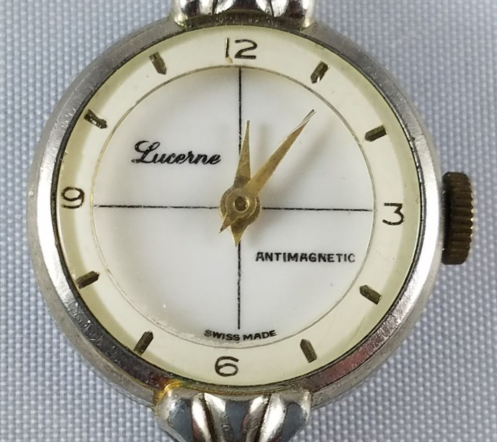 Details about womens vintage lucerne anti magnetic watch swiss made for parts or repair for Magnetic watches