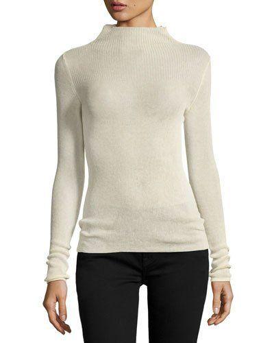 80e1d67ec2cf B3QXP Isabel Marant Mock-Neck Knit Sweater, Ecru. B3QXP Isabel Marant  Mock-Neck Knit Sweater, Ecru Bergdorf Goodman ...