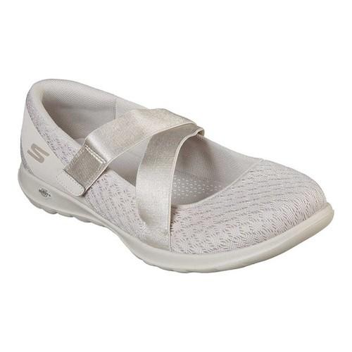 4b0c4e72fe780 Women's Skechers Go Walk Lite Divine Mary Jane - Natural Flats ...