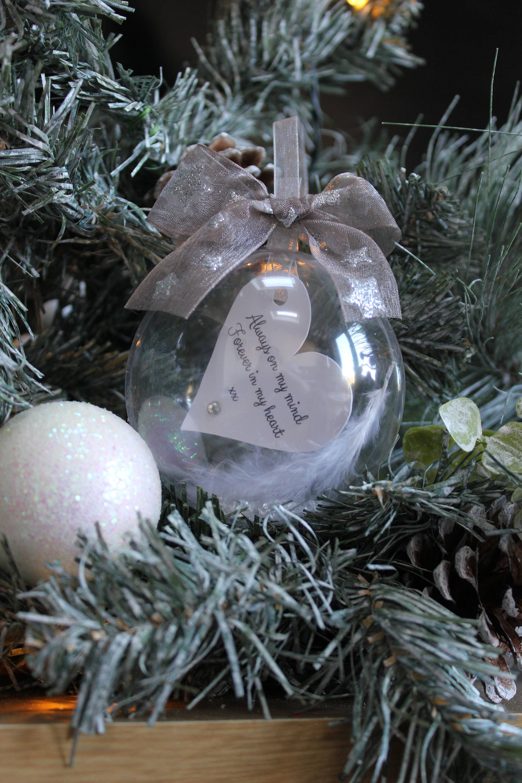 Memory remembrance Christmas tree bauble keepsake angel