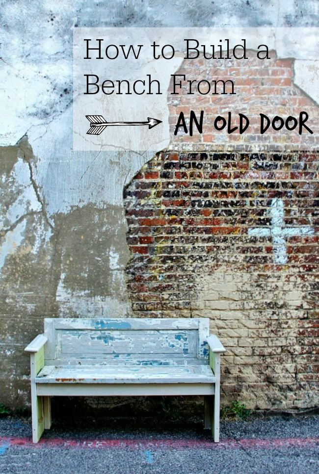 Info's : How to Build a Bench From a Door