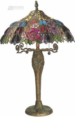 Garnier Tiffany Table Lamp Lampes Tiffany Objet Decoration Lampe Retro
