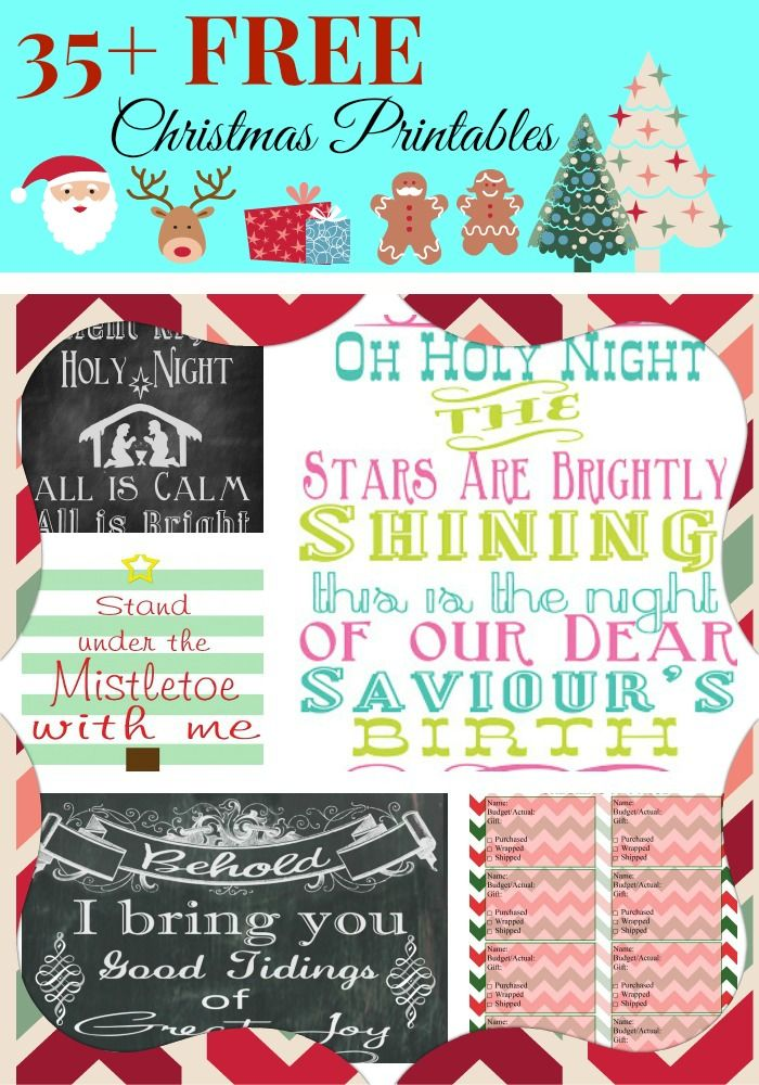 Framable Christmas Printables! Free and Easy Christmas Crafts and Decorations!