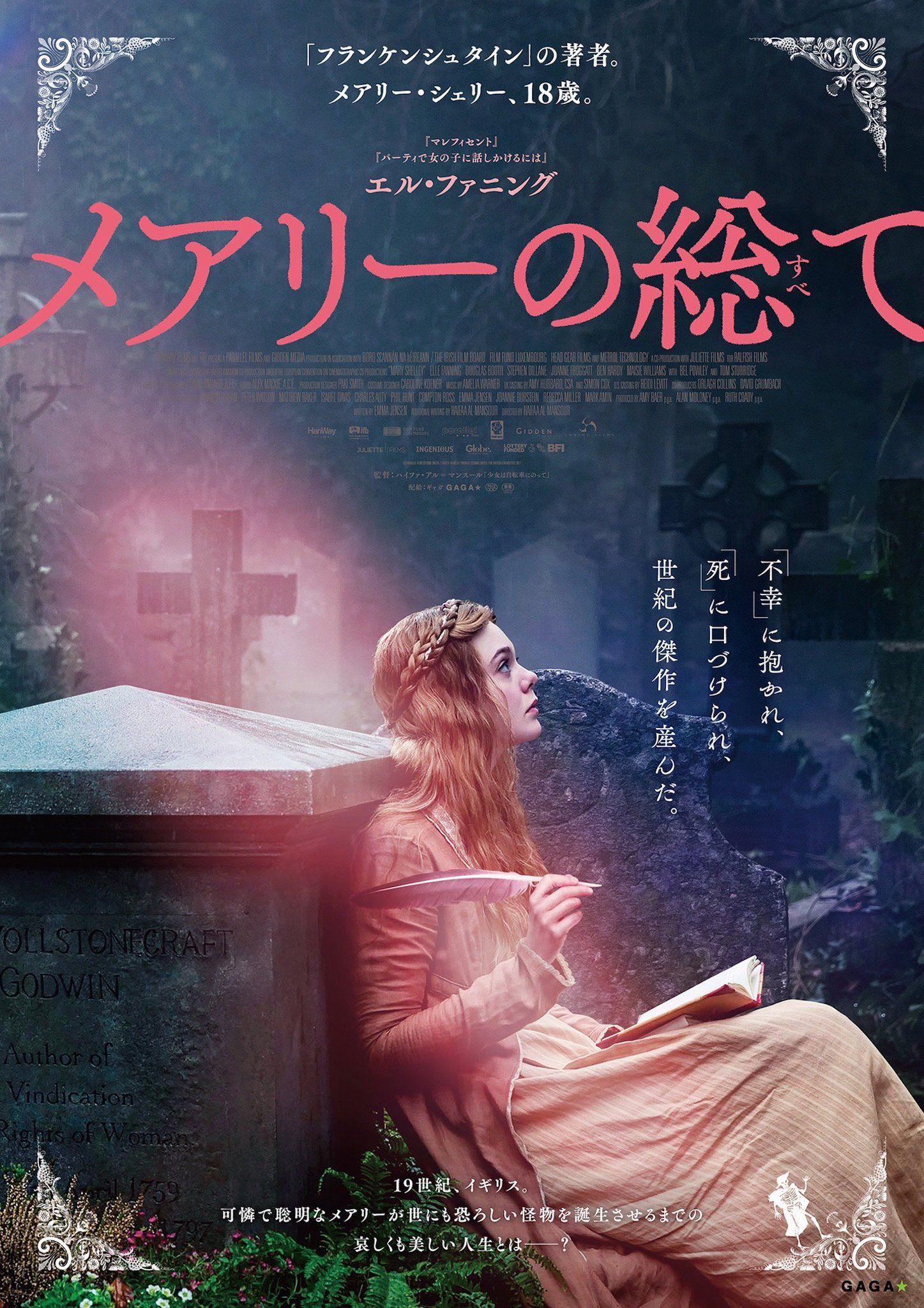 Mary Shelley メアリーの総て 映画 ポスター 映画 フランケンシュタイン