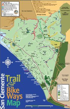 Trailmap For San Clemente Ca With Images San Clemente California