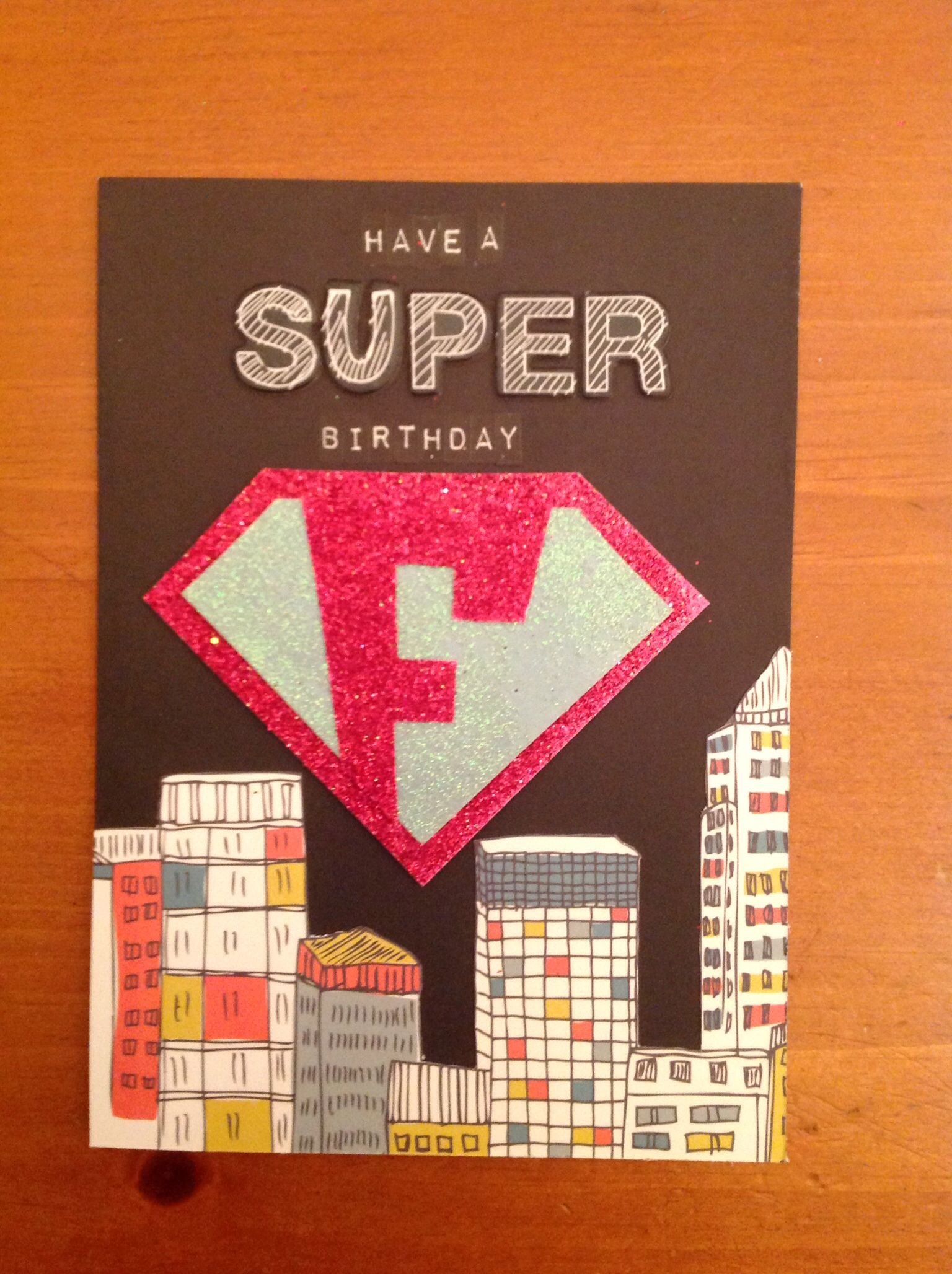 Personalised superhero birthday card by cardtimes skyline in man personalised superhero birthday card by cardtimes skyline in man made paper by first edition kristyandbryce Image collections