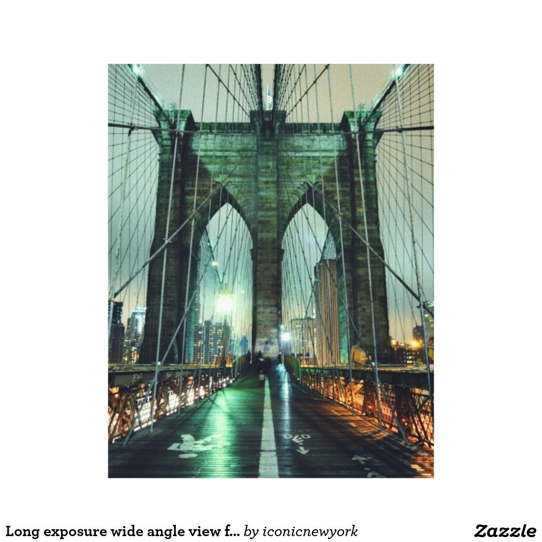 Long exposure wide angle view from the Brooklyn Canvas Print