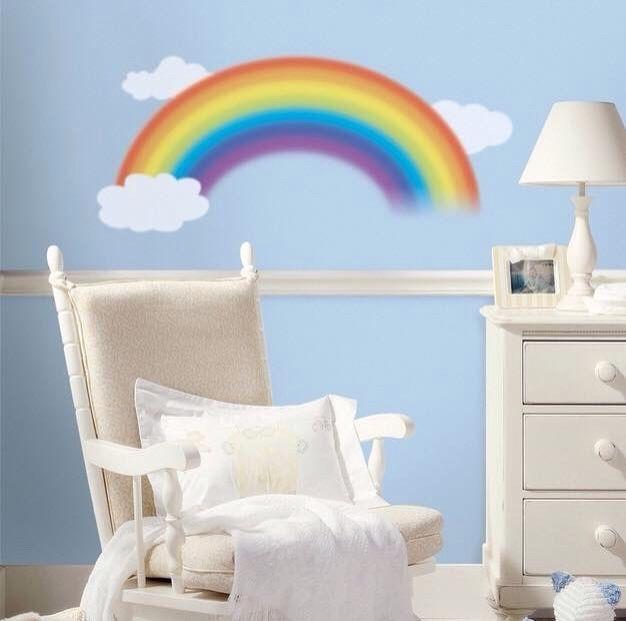 Lovely rainbow wall