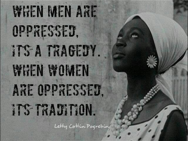 Quote about oppression of women