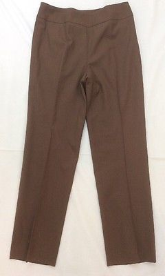 Worth Womens Wool Blend Brown Casual Pants Sz 8