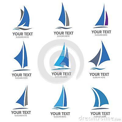 sailing boat logo vector hand made pinterest sailing