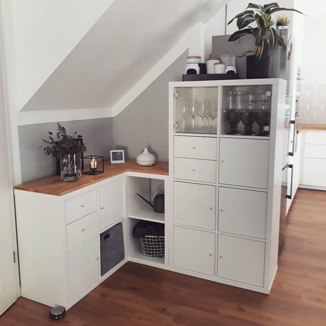 """@petit.pois_ auf Instagram: """"#iicstoragespace Ja der gute alte Kallax...unter die Treppe wollten wir erst einen kleinen Vorratsraum machen. Aber es wäre ein sehr…"""" #zimmerkleineinrichten"""