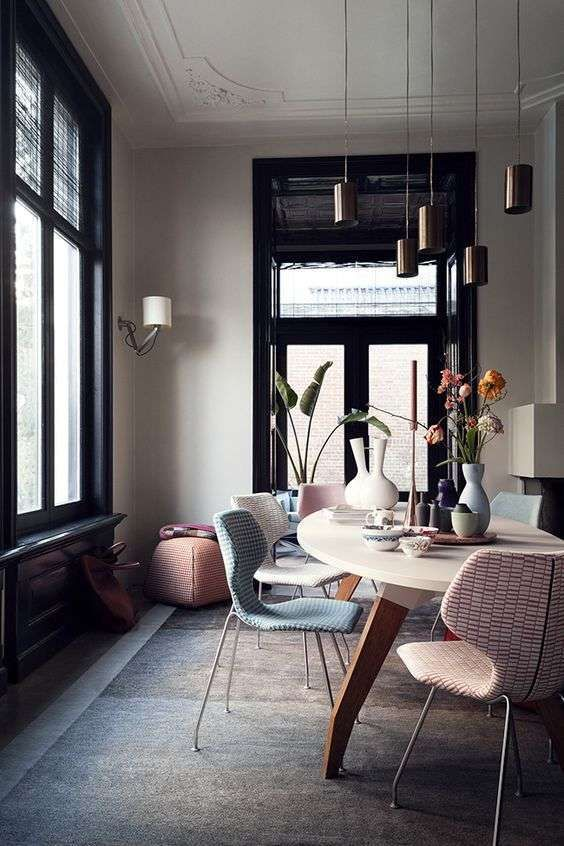 tendenze arredamento 2018 - sala da pranzo vintage | interior ... - Arredamento Interior Design