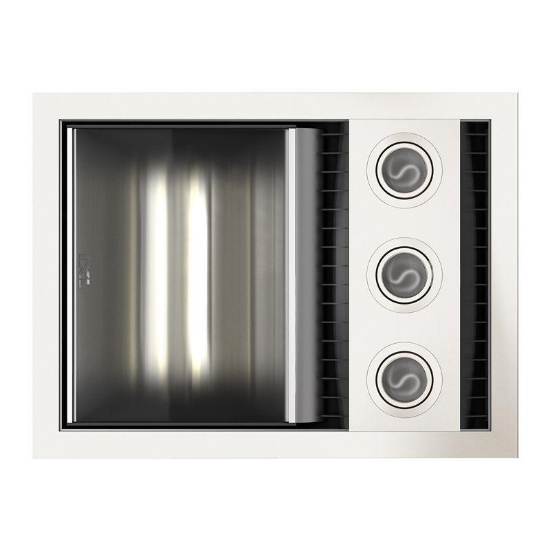 Ixl Tastic White Neo Single 3 In 1 Bathroom Fan Heater