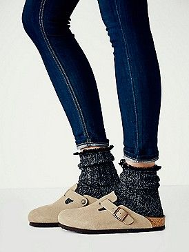 Taupe Suede Birkenstocks on Free People