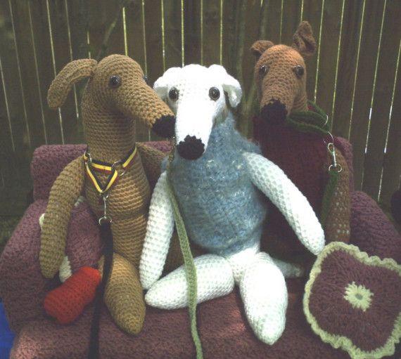 Little Greyhound Dolls Crochet Pattern Whippet Dog Pdf Instant