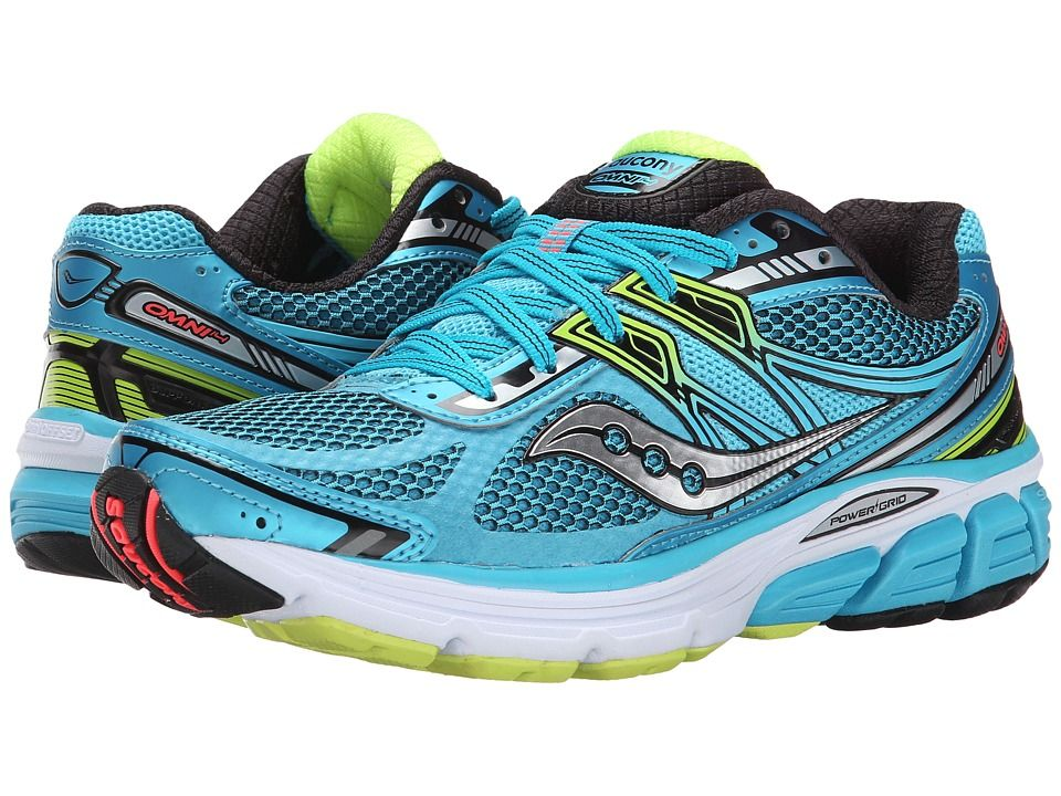 SAUCONY SAUCONY - OMNI 14 (BLUE/BLACK/CITRON) WOMEN'S RUNNING SHOES.