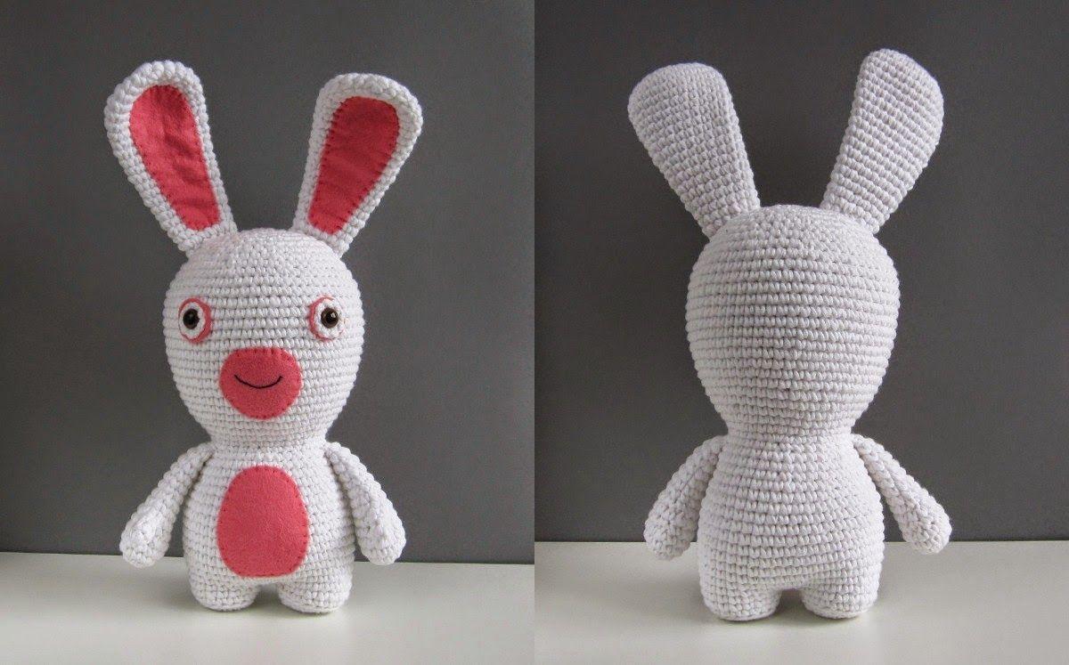 Un jour, un DIY: Des lapins crétins en crochet pour Pâques
