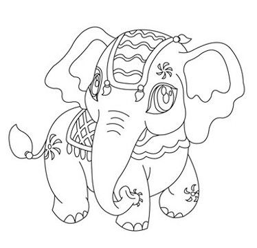 dibujos de elefantes para niños faciles   Animales de dibujo ...