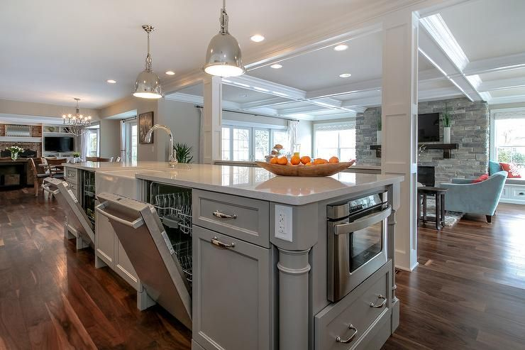 Cabinets are benjamin moore willow creek silestone blanco river floors are nice but possibly