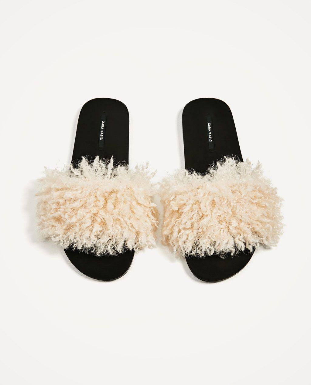 588b0dda809 FAUX FUR SLIDES-Flat sandals-SHOES-WOMAN