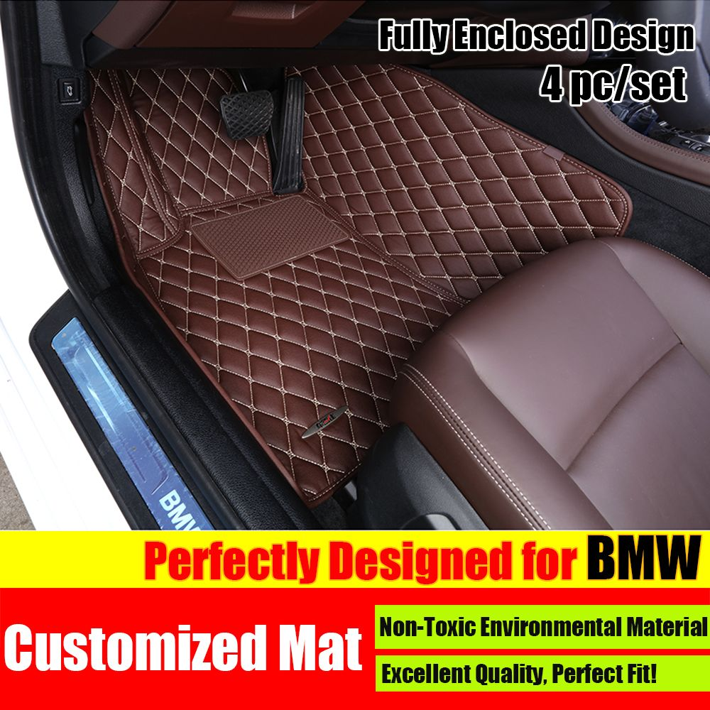 custom fit car floor mats for bmw x1 x3 x5 x6 1 3 5 7 series car styling foot mats carpets. Black Bedroom Furniture Sets. Home Design Ideas