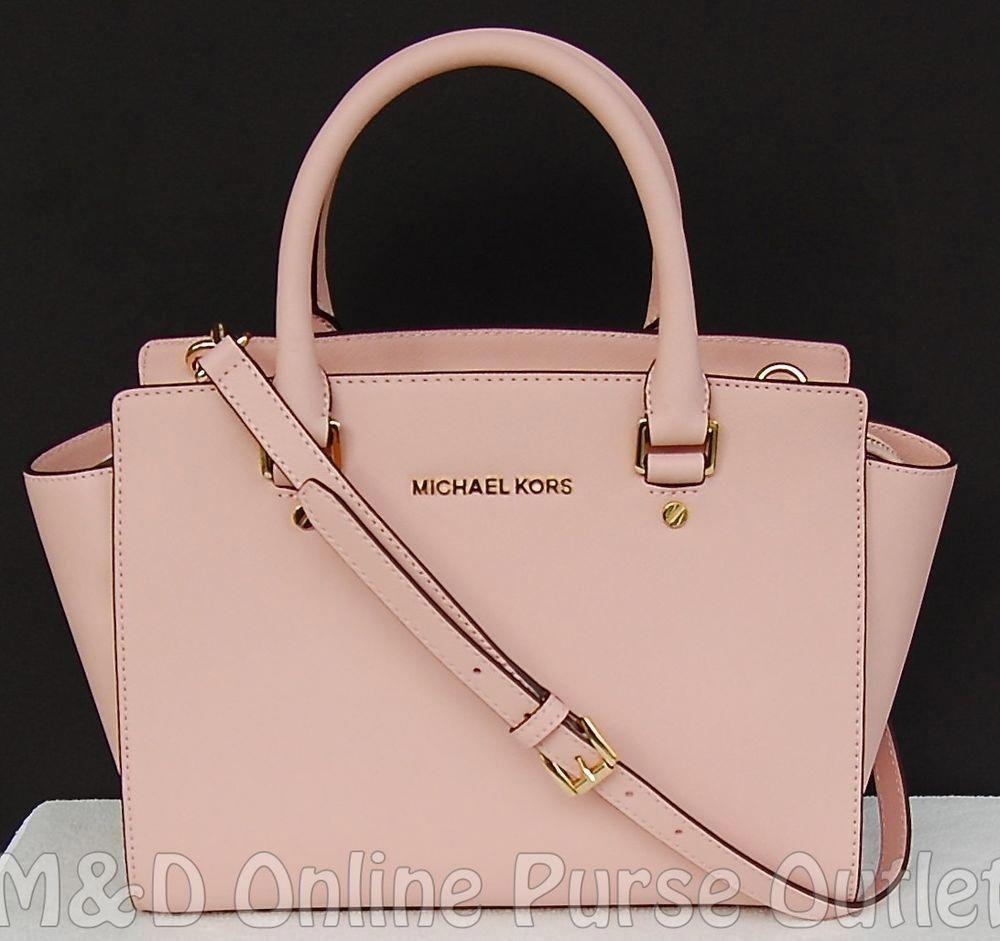 3a44a774d7ea ... canada nwt michael kors saffiano leather selma medium tz satchel purse  bag pastel pink michaelkors totesshoppers