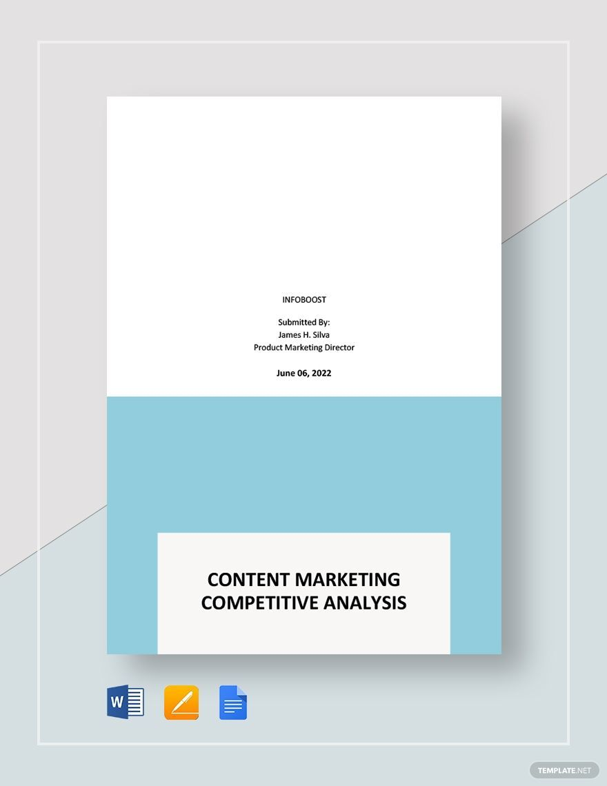 Content Marketing Competitive Analysis Template Analysis