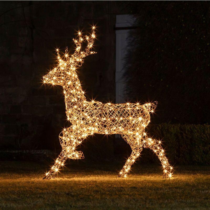 Lights4fun Renne De Noël Lumineux En