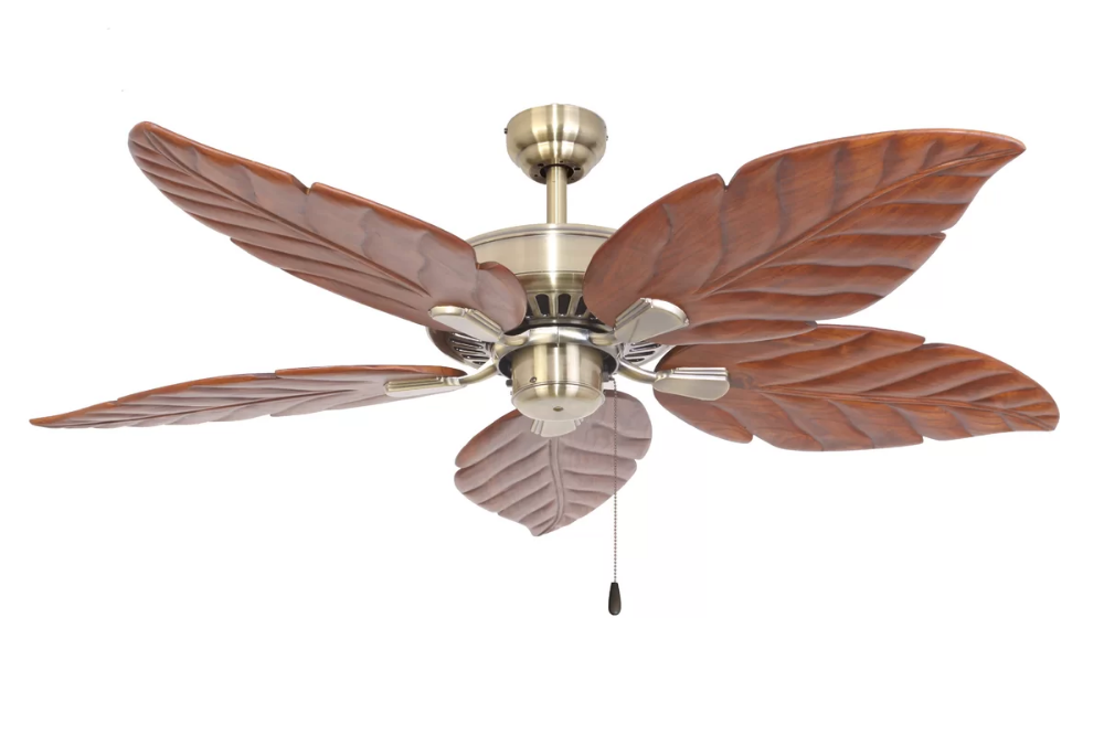 Bay Isle Home 52 Killingworth 5 Blade Ceiling Fan Birch Lane Ceiling Fan Ceiling Fan With Remote Ceiling Fan Makeover Palm leaf ceiling fan blades