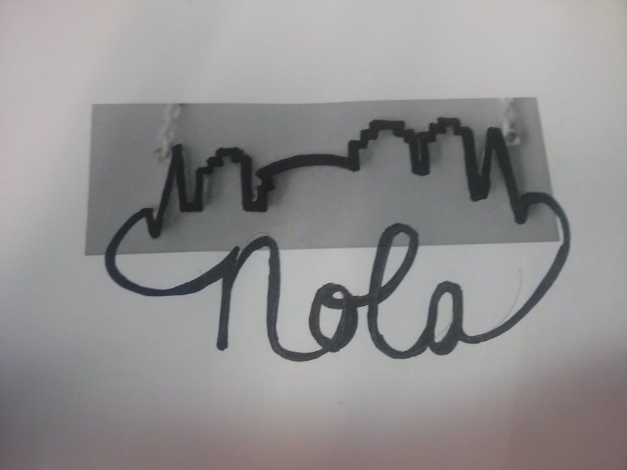 New Orleans Skyline Simple Connected To Nola Rough Idea