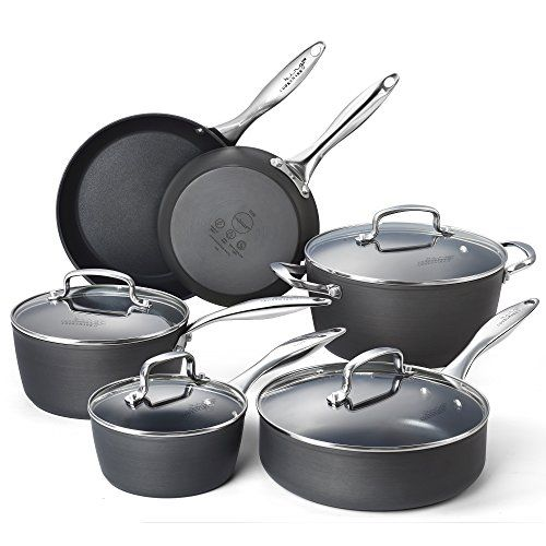 Cooksmark Kingbox 10piece Hardanodized Dishwasher Safe Nonstick