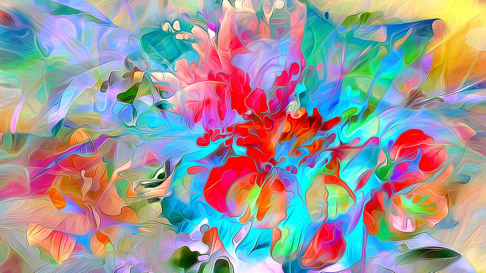 Обои краски, цветы. Абстракции foto 6