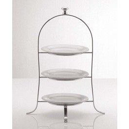 Cake Plate Stand 49 x 24.5cm Silver plated 3 tier for Plates up  sc 1 st  Pinterest & Cake Plate Stand 49 x 24.5cm Silver plated 3 tier for Plates up to ...