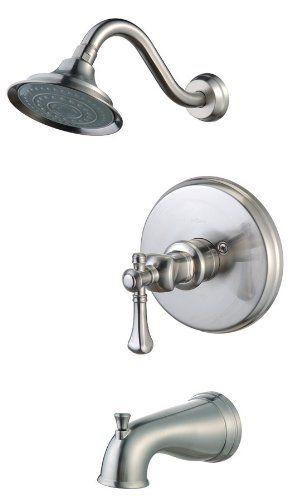 Pegasus 873 5104 Verdanza Single Handle Pressure Balance Tub Shower Faucet Brushed Nickel Shower Faucet Tub And Shower Faucets Faucet
