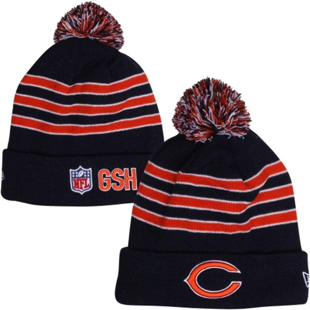 593f872f New Era Chicago Bears Youth On-Field GSH Cuffed Knit Hat - Navy Blue ...
