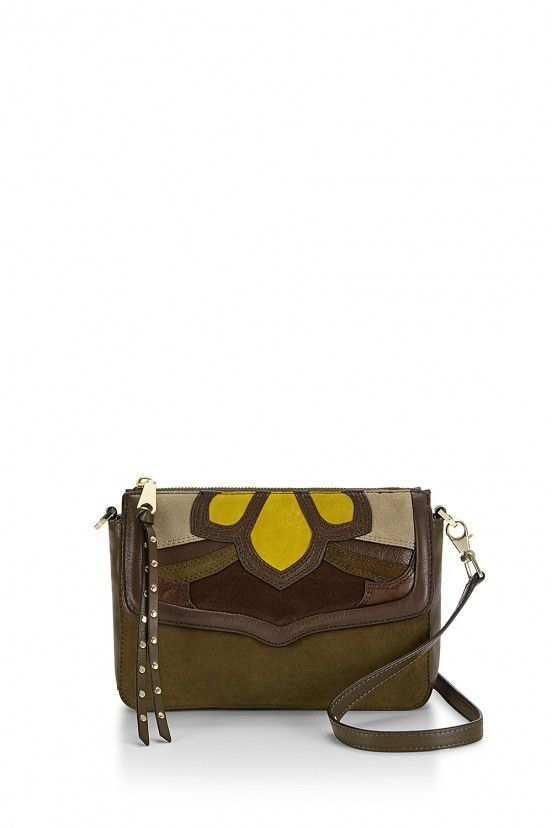 Rebecca Minkoff Laurie Olive Multi Leather With Suede Detailing Crossbody 8f3c6b8a8ed25