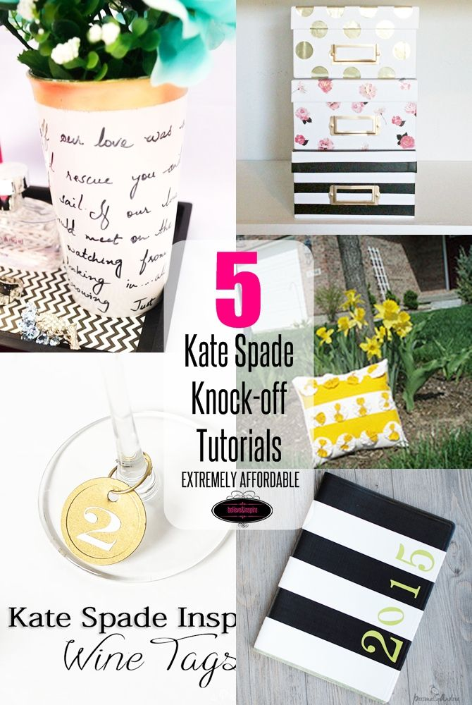 5 Kate Spade Home Decor Knock Off Tutorials