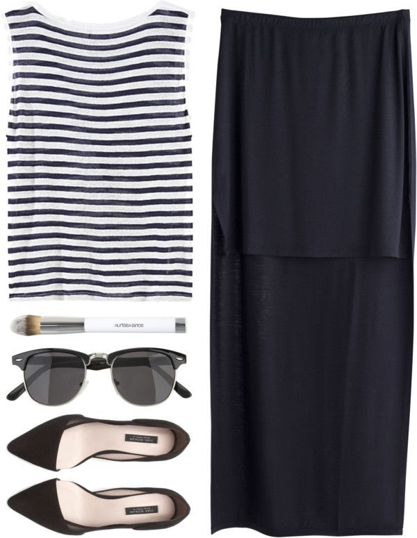 styleselection:  Greek Accent by maartinavg featuring a horizontal stripe shirt