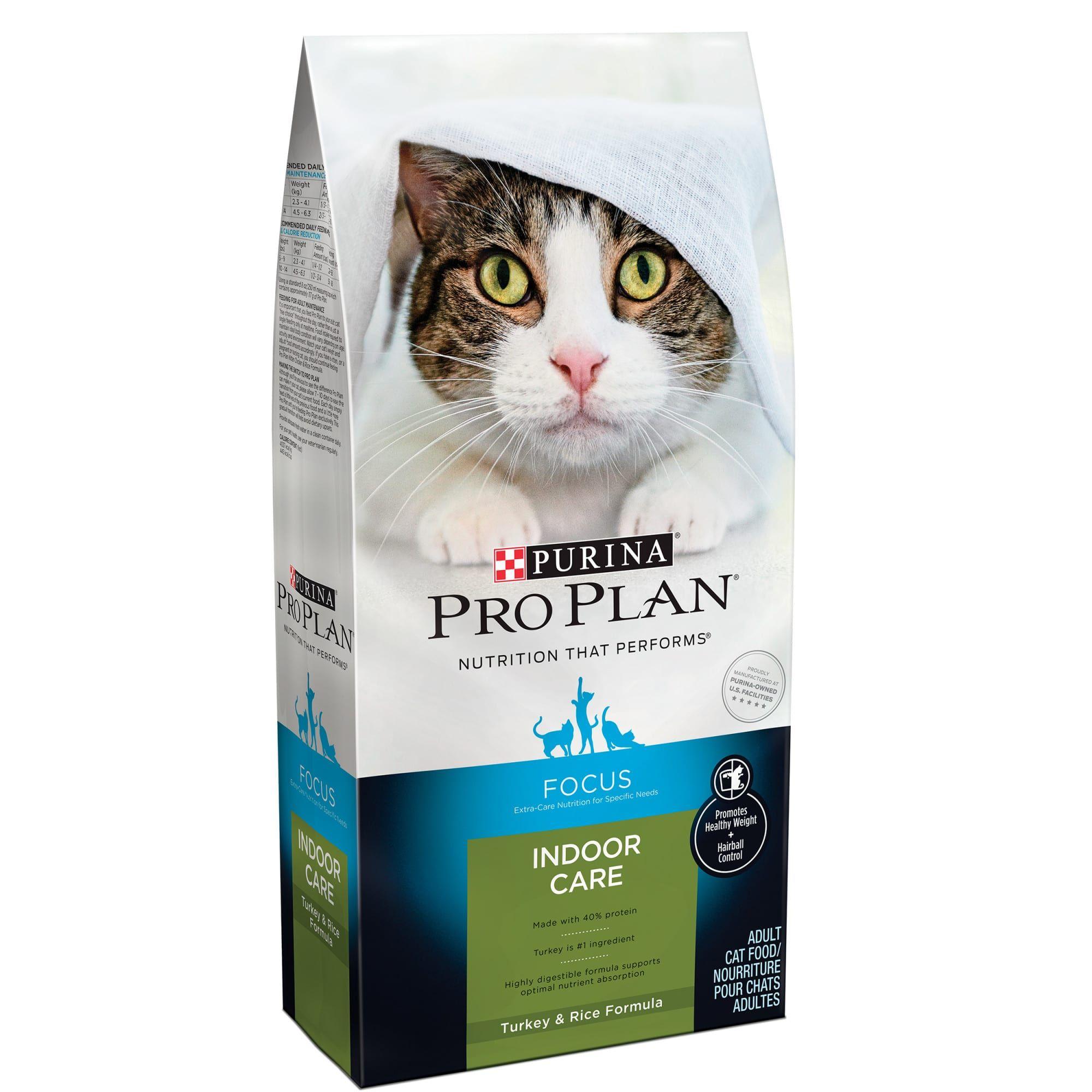 Purina Pro Plan Focus Indoor Care Turkey Rice Formula Adult Dry