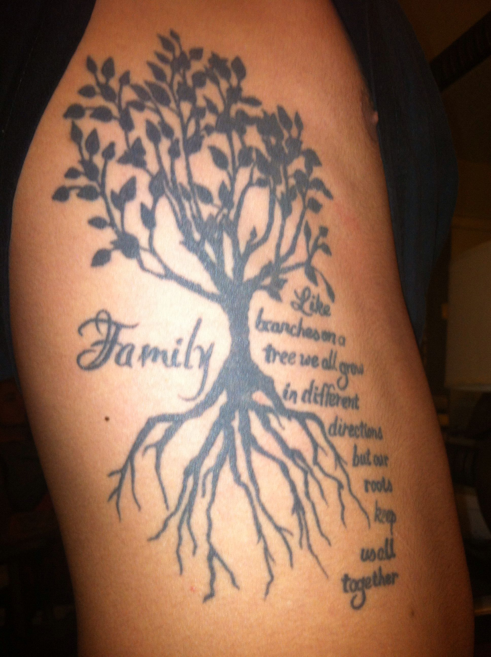 Family Tree tattoo Family tattoos, Family tree tattoo