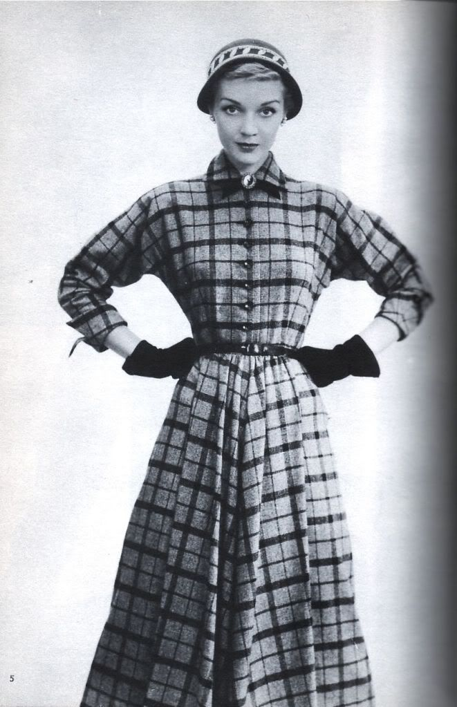 Franklin Simon and Co 1954 Plaid dress