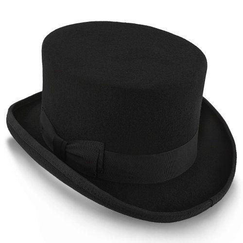 3e4f2ccea9628c Deadman - Walrus Hats Wool Felt 4 in. Height Low Crown Top Hat - H7019