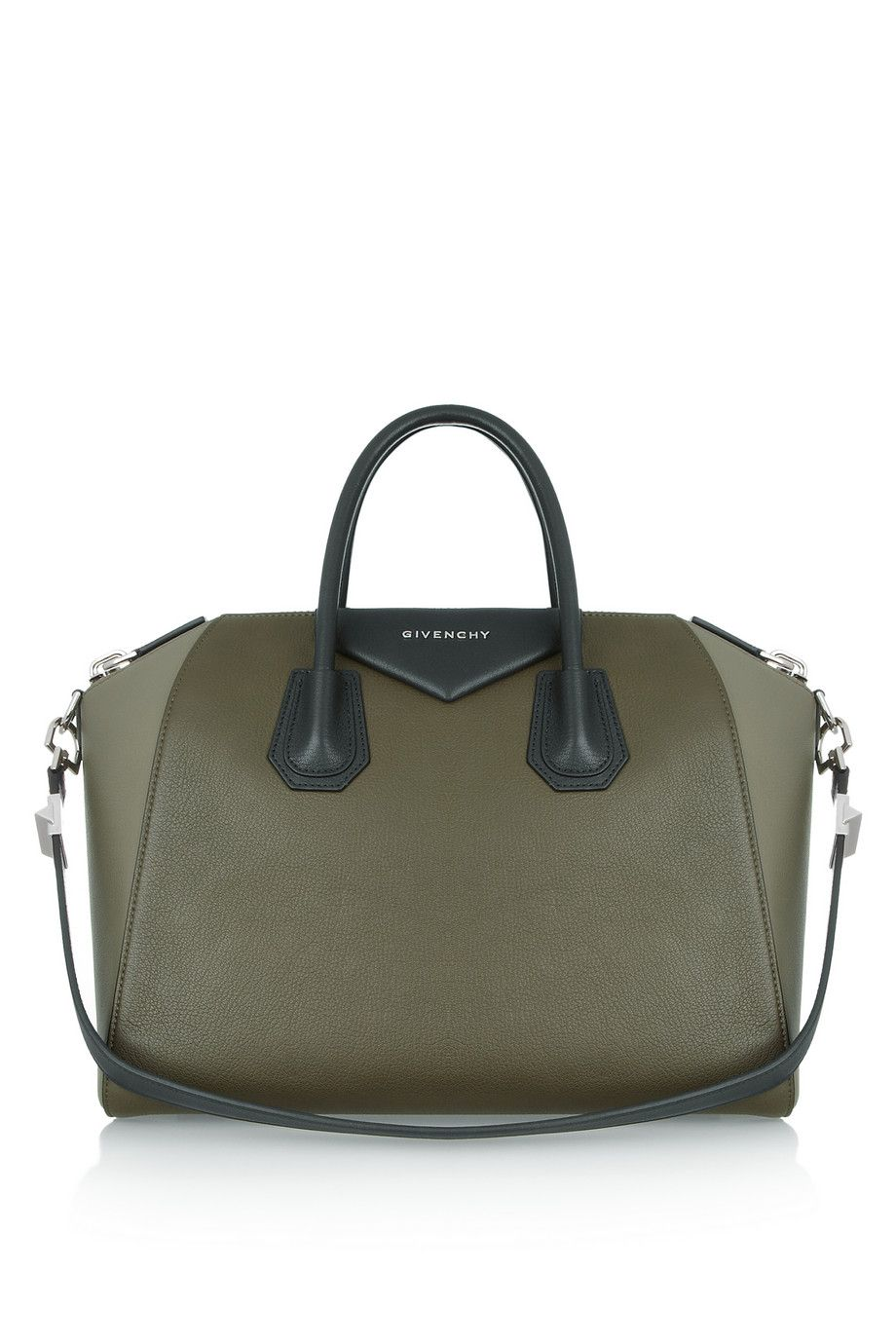 ab66dcf29a GIVENCHY Medium 'Antigona' bag in color-block Olive green leather Product  measures: Length 28cm / Width 17cm / Height 24cm / Handle Drop 16cm /  Shoulder ...