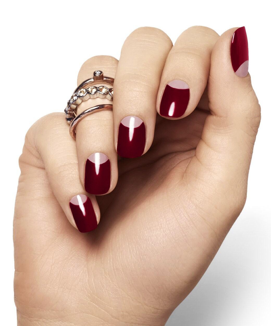 wine deep french.. classic | Nails | Pinterest | French classic ...