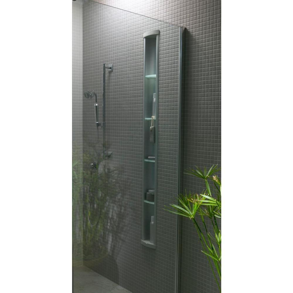 Amazing KOHLER Pilaster Wall Mount Aluminum Shower Niche In Satin Silver