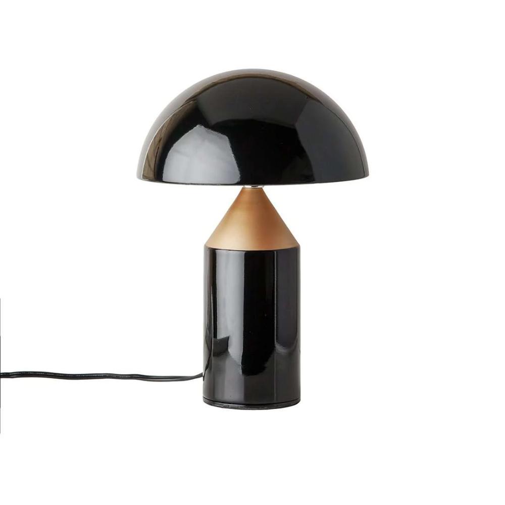 Mid Century Mushroom Table Lamp Black And Copper Black Table Lamps Table Lamp Lamp