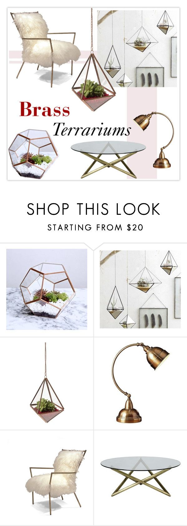 """Glass gardens"" by missdee-93 ❤ liked on Polyvore featuring interior, interiors, interior design, home, home decor, interior decorating, Roost, AF Lighting and Mitchell Gold + Bob Williams"